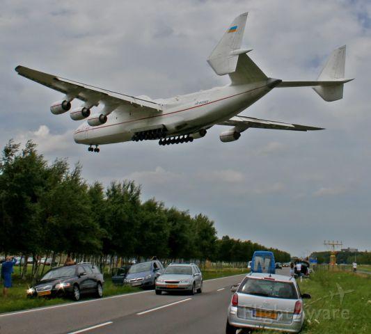 Antonov An-225 Mriya (UR-82060) - Worlds biggest airplane on his final approach for runway 27 at Schiphol Airport, Amsterdam. (06-jul-2008)