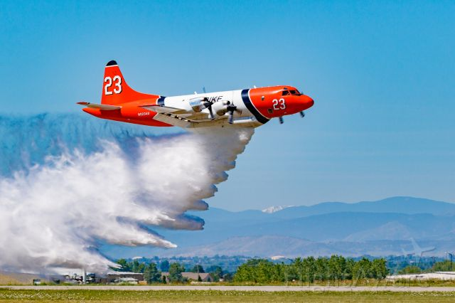 Lockheed P-3 Orion (N923AU) - Wildfire Air Tanker Demonstration and Display at KFNL.