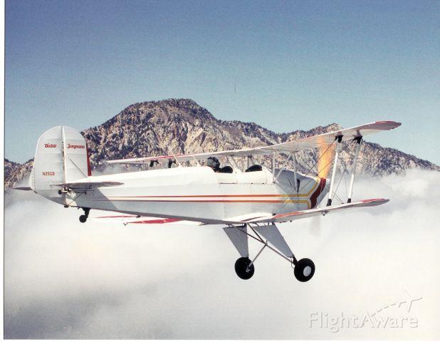 EAA Biplane (N25GB) - Fly past Mt. Baldy, California