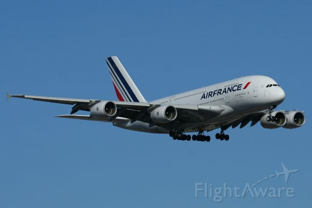Airbus A380-800 — - Air France 6 on final to 22L in 2012,when the A380 was a new bird flying