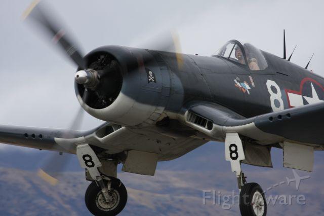 — — - Corsair F4U getting airborne