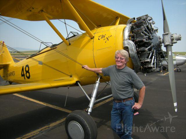 NAVAL AIRCRAFT FACTORY N3N (N45261) - Neil at Grangeville, Idaho, July 13,  2012.