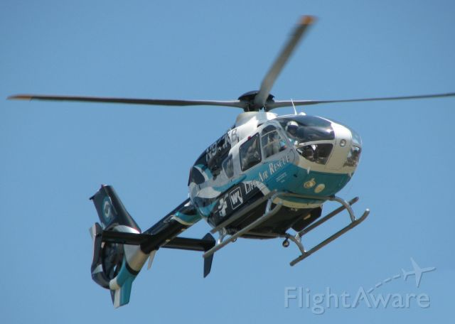 Eurocopter EC-635 (N911KB) - Life Air Rescue landing at the Shreveport Downtown airport.