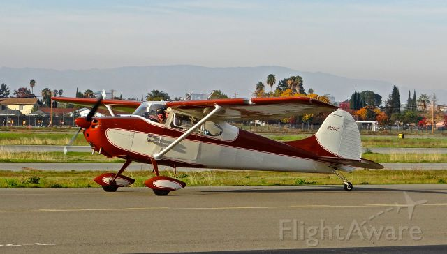 Cessna 170 (N1916C) - Locally-based Cessna 170 heading out for an early morning flight at Reid Hillview Airport, San Jose, CA.