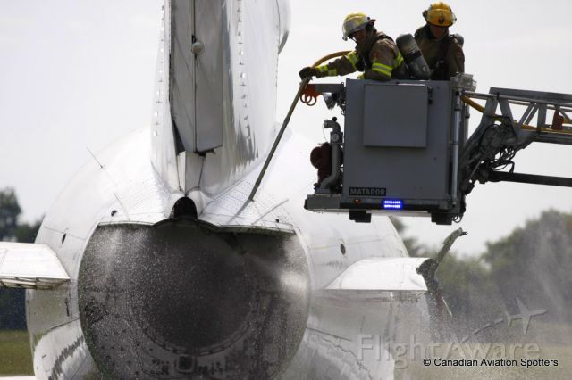 BOEING 727-200 — - Ottawa International Airport Fire Services were training the Ottawa Fire Dept on using the fuselage piercing tool to spray the inside of the fuselage with water.  They were practising on an old 727 near the Combined Services bldg.