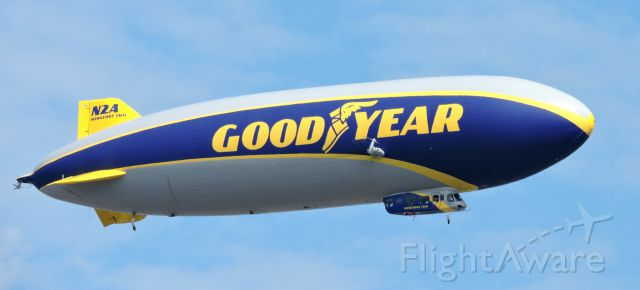 """Unknown/Generic Airship (N2A) - This is Good Year's 2016 Zeppelin Dirigible """"Wingfoot Two"""" departing, fall 2019."""