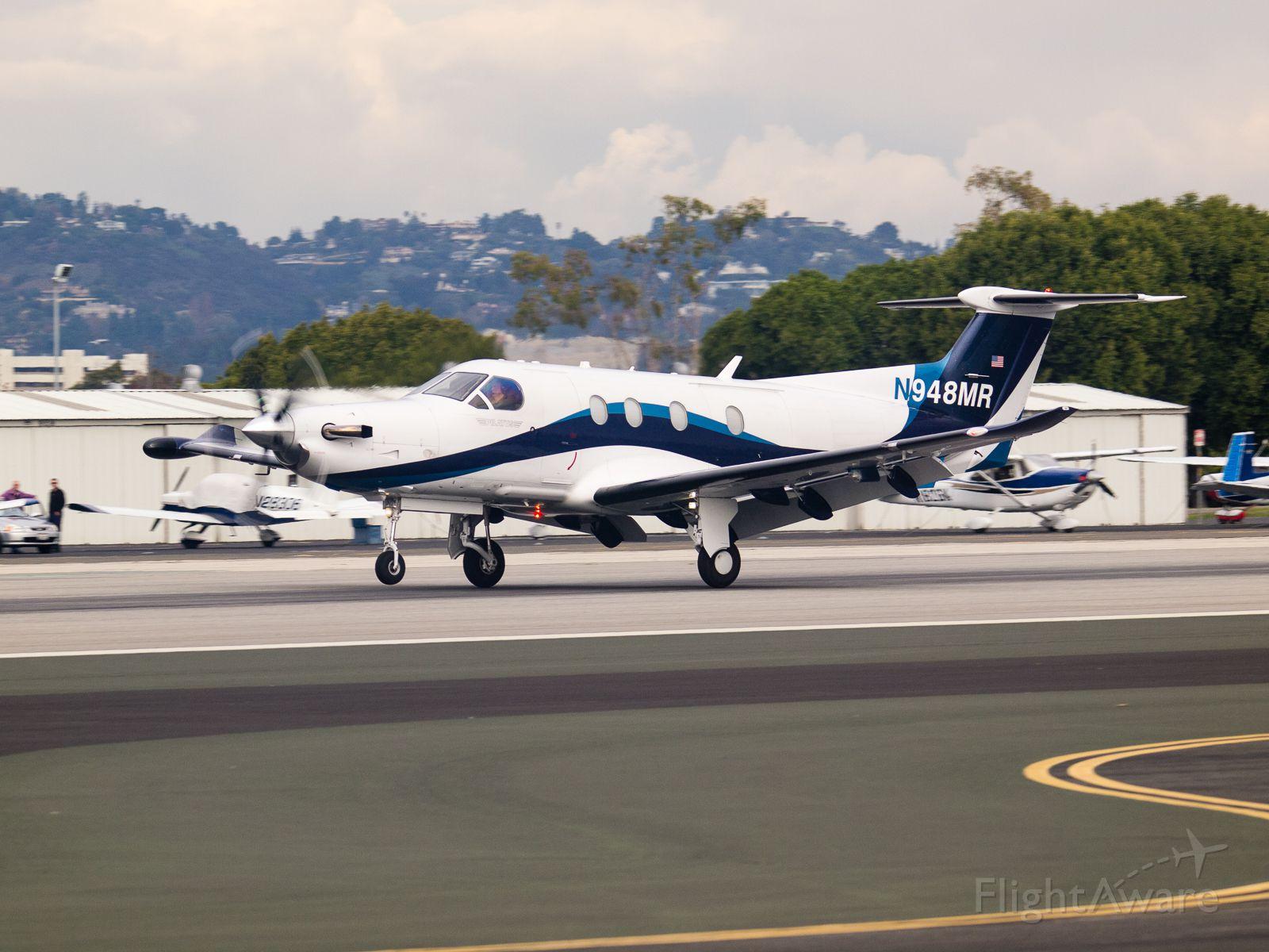 Pilatus PC-12 (N948MR) - N948MR arriving on RWY 21