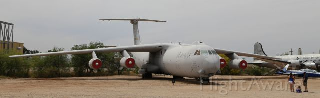 Lockheed C-141 Starlifter (67-0013) - Pima Air & Space Museum, Tucson, AZ, 21 Apr 18.  More from their website:<br /><br />Manufacturer: LOCKHEED<br />Markings: 305th and 514th Air Wings, McGuire AFB, New Jersey, 2000<br />Designation: C-141B<br />Serial Number: 67-0013<br /><br />LOCKHEED C-141B STARLIFTER<br />In May 1960 the U.S. Air Force asked aircraft manufacturers to submit designs for a jet transport to replace the ageing and outdated fleet of propeller driven transports then in use. Boeing, Convair, Douglas, and Lockheed submitted proposals with the Lockheed design being selected in May 1961 as the winner. The first C-141 made its maiden flight on December 17, 1963, the 60th Anniversary of the Wright Brother