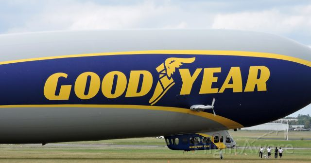 """Unknown/Generic Airship (N2A) - Good Year's 2016 Zeppelin Dirigible """"Wingfoot Two"""" ready to depart, fall 2019."""