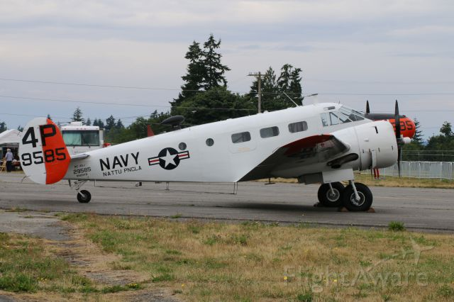N585PB — - The RC-45 J from the Historic Flight Foundation was out for viewing this weekend at Paine Field, WA although most eyes and ears were on FIFI that flew today.