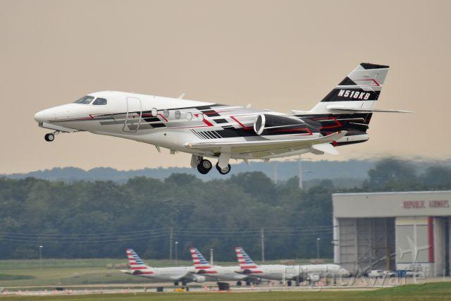 Cessna Citation Sovereign (N518KB) - Kyle Busch aircraft 08-15-21. Departing Runway 14.