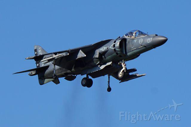 Boeing Harrier (N94422) - Art Nallss XZ439 civillian Sea Harrier performing at the Warbird airshow 7/24/2015, EAA AirVenture Oshkosh 2015