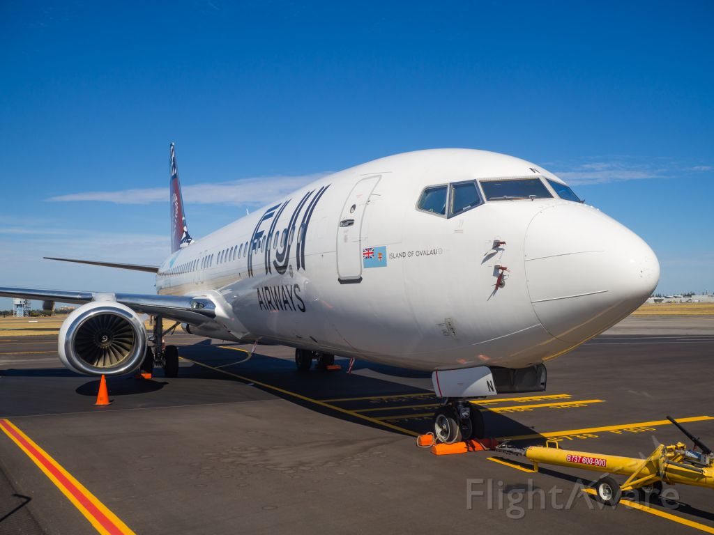 Boeing 737-800 (DQ-FJN) - Weather problems at Nadi has grounded the Fiji Airways fleet