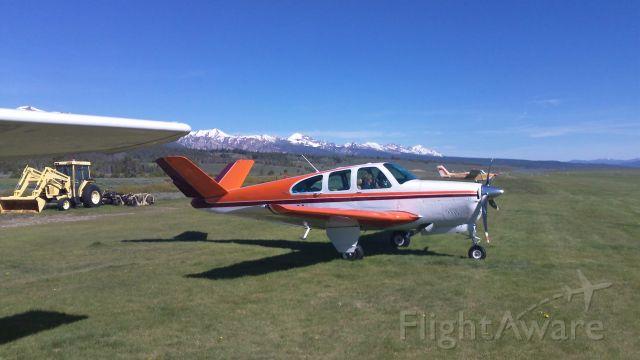 Beechcraft 35 Bonanza (N9709Y) - Just Landed