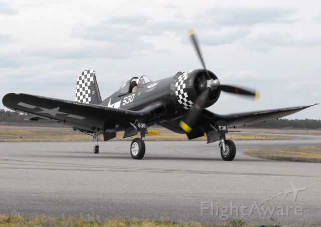 VOUGHT-SIKORSKY V-166 Corsair (N9964Z) - CAFs FG-1 Corsair entering the south ramp for a static display event.