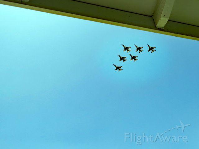 Lockheed F-16 Fighting Falcon — - Surprise Thunderbird visit over my house