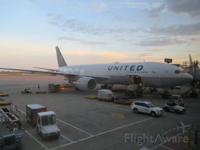Boeing 777-200 — - Made it home safe.