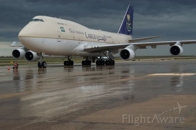 Boeing 747-400 (TF-AMI) - Layover after delivering one of six loads for Formula 1 US Grand Pre.