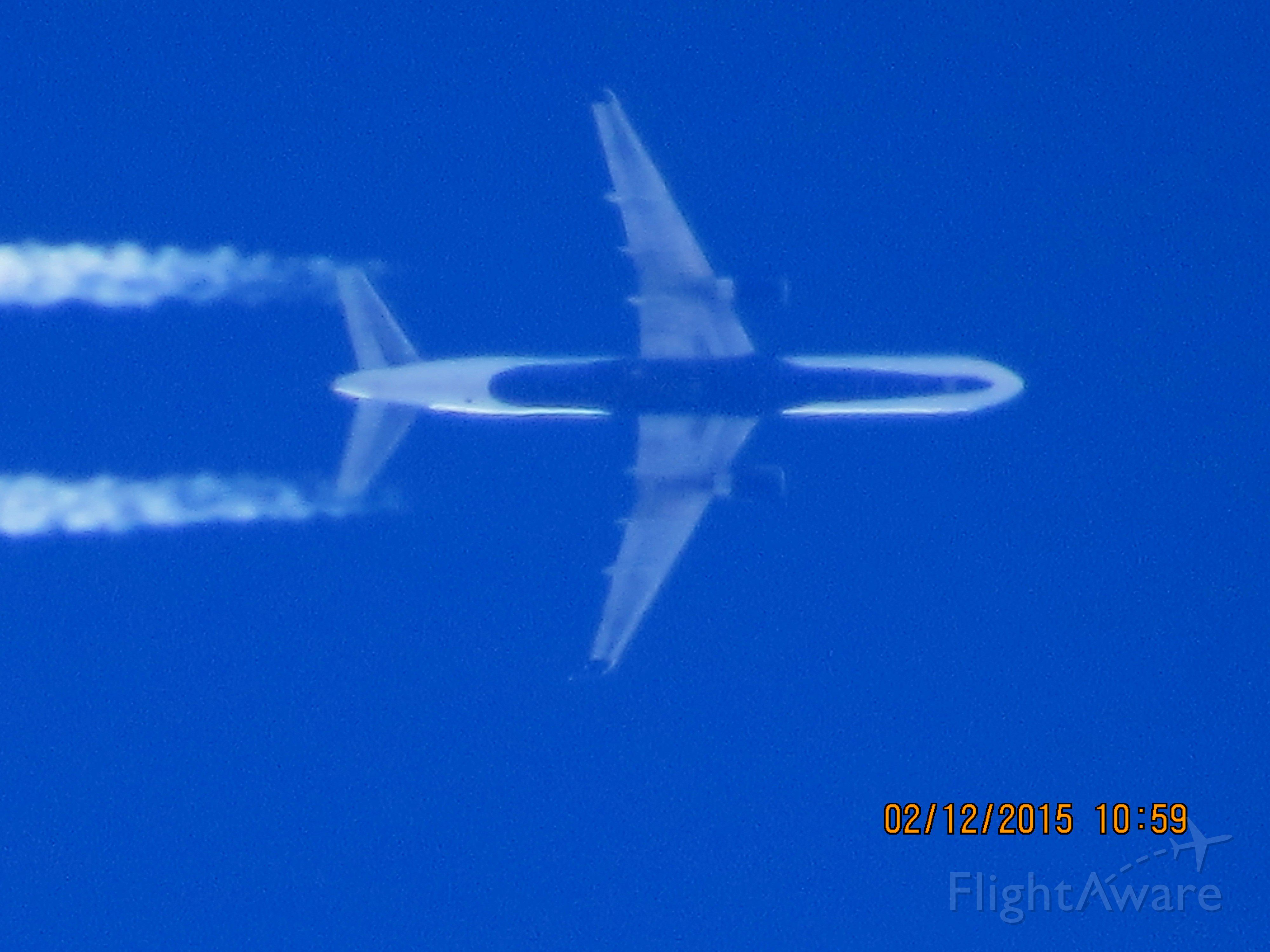 Boeing 757-200 (N664DN) - Delta Airlines flight 1172 from ATL to EGE over Southeastern Kansas at 38,000 feet.