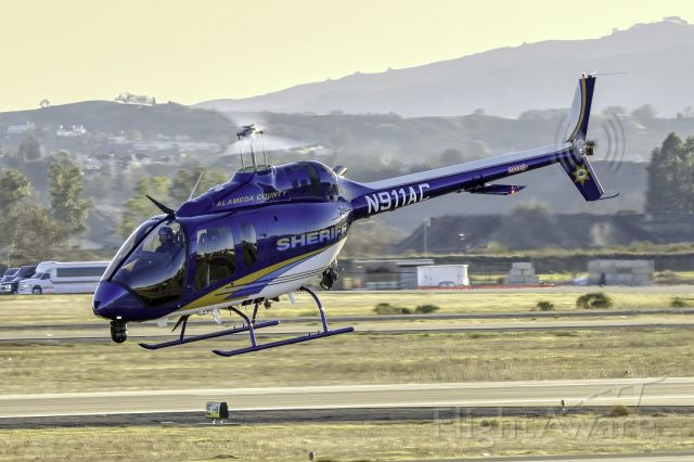 Bell 505 (N911AC) - Bell 505 at Livermore Municipal Airport. February 2021