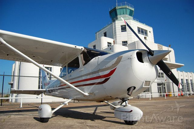 Cessna Skyhawk (N2141Y) - Sitting on the ramp at Wings and Wheels at the 1940s Air Terminal Museum and lit amazingly by the morning light.