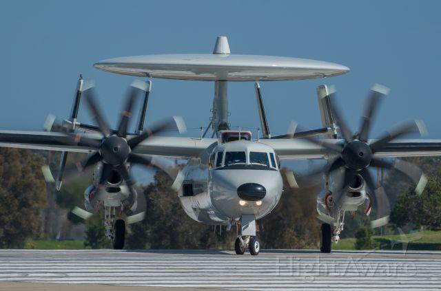 Grumman E-2 Hawkeye — - DEPOT11 taxing onto runway 36 for a midday dep.