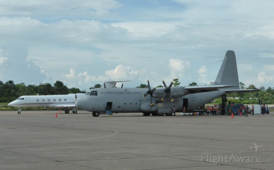 Lockheed C-130 Hercules — - Snapped this picture while on the tarmac of Iquitos airport.