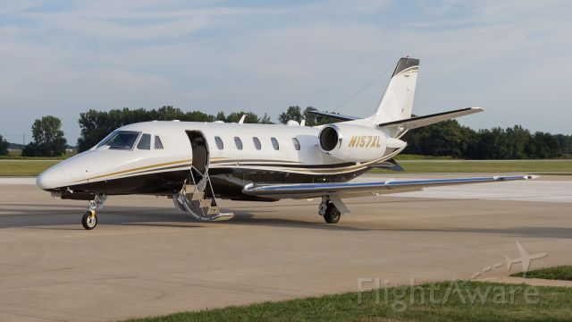 Cessna Citation Excel/XLS (N157XL) - After dropping off its passengers, a Cessna Citation 560XLS sits resting in the late afternoon sun.