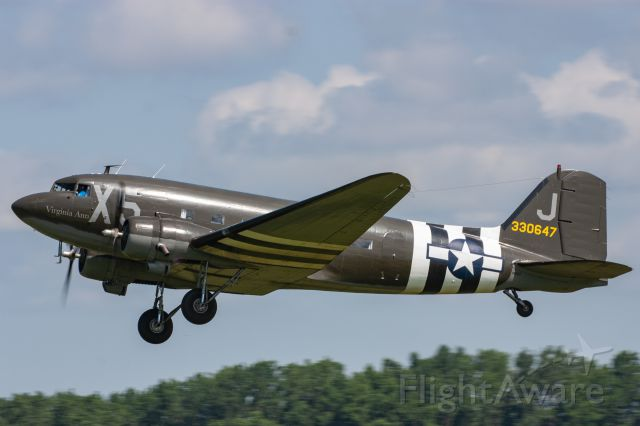 "Douglas DC-3 (N62CC) - Douglas C-53 Skytrooper ""Virginia Ann"" at the 2019 Greatest Show on Turf in Geneseo, NY"