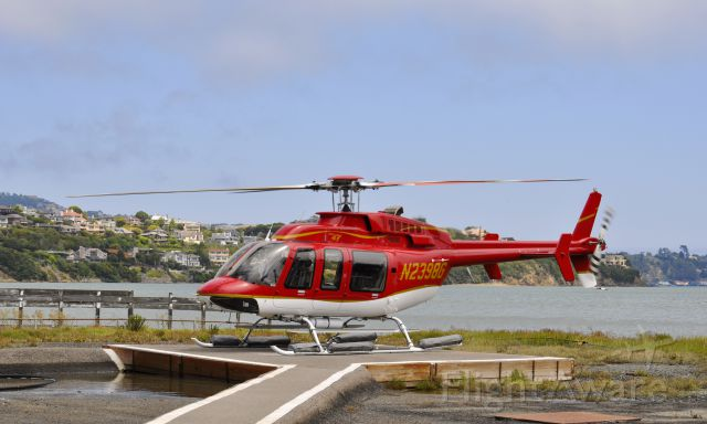 Bell 407 (N2398G) - Flipper Aviation Llc Bell 407 N2398G at Sausalito after an areal tour on San Francisco