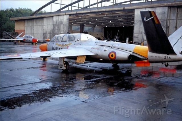VALMET Magister (0273) - Advanced pilot trainer Belgian/Dutch Air Force in the 1960s early 1970s.