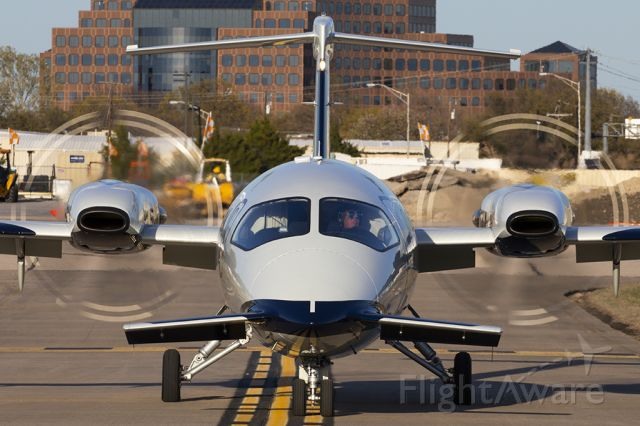 Piaggio P.180 Avanti (N615CJ) - Always nice to capture props heading to taxiway Bravo for parking.