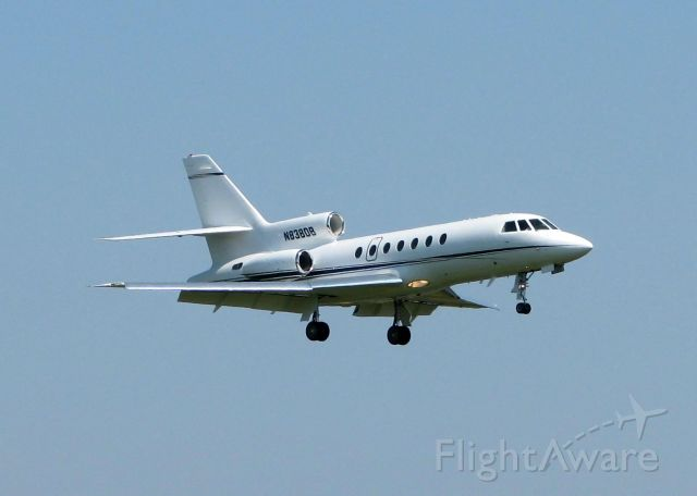 Dassault Falcon 50 (N838DB) - Landing at Shreveports Downtown Airport.