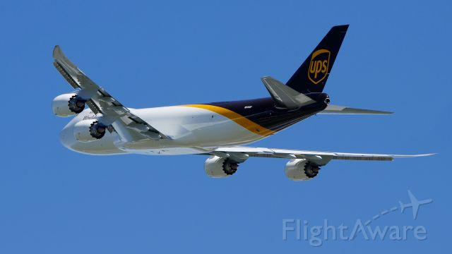 BOEING 747-8 (N615UP) - UPS9105 on rotation from Rwy 34L for delivery to KSDF on 4.30.19. (ln 1553 / cn 64261).