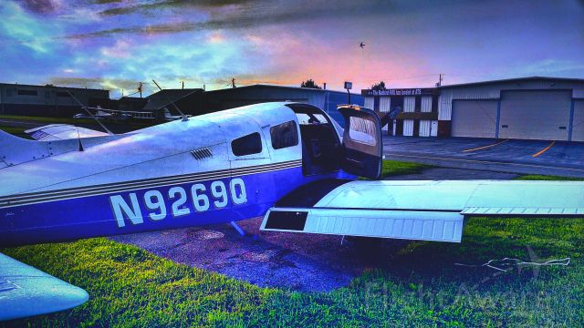 Piper Cherokee (N9269Q) - Capturing a beautiful Amish country sunrise.