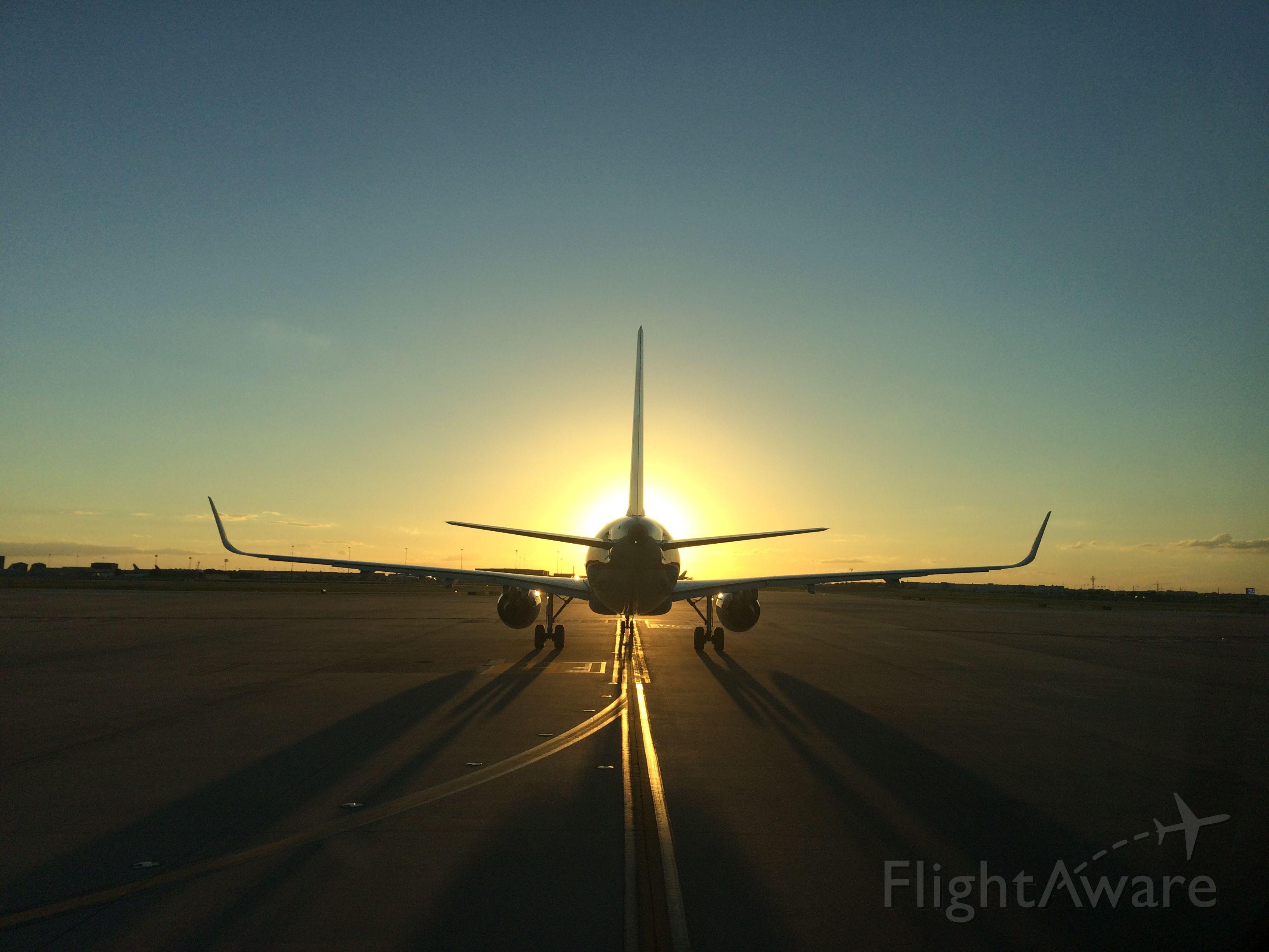 — — - #2 for sunset departure at DFW - runway 18L. September 2015. Sorry, I don