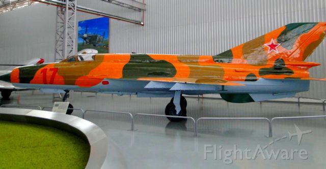 MIKOYAN MiG-21 — - MIKOYAN-GUREVICH MIG-21 IN SÃO CARLOS-SP, BRAZIL.