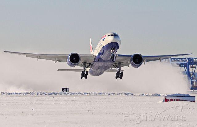 Boeing 777-200 (G-ZZZC) - Speedbird 238 heavy lift off 04R.