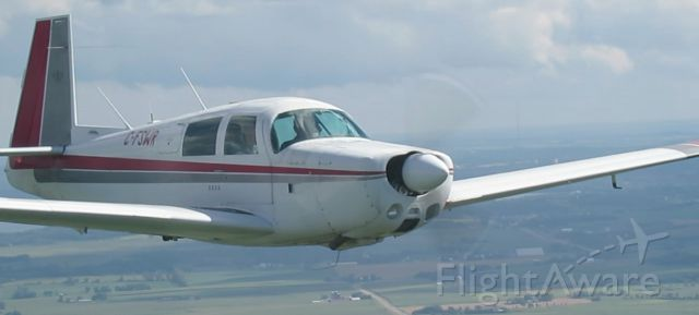 Mooney M-20 (C-FSWR) - This was taken as part of our Mooney Caravan to Oshkosh, 2013, from Madison, WI.  At 3:45 pm on 27 July 2013