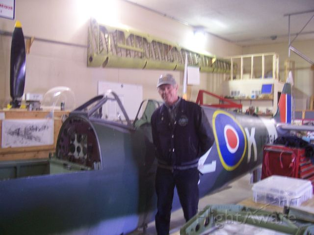 """SUPERMARINE Spitfire (LIL294) - """"Fearsome""""  Winner of the Battle of Britan  Supermarine Mk IXc  Y2K Spitfire Restoration  442 sqn. CFB Comox, BC    Gunnery 2-20mm cannon plus  4-303 cal machine guns  and capeable of 1,000 lb bomb load - Fearsome  hense: Its name - """"SPITFIRE"""""""