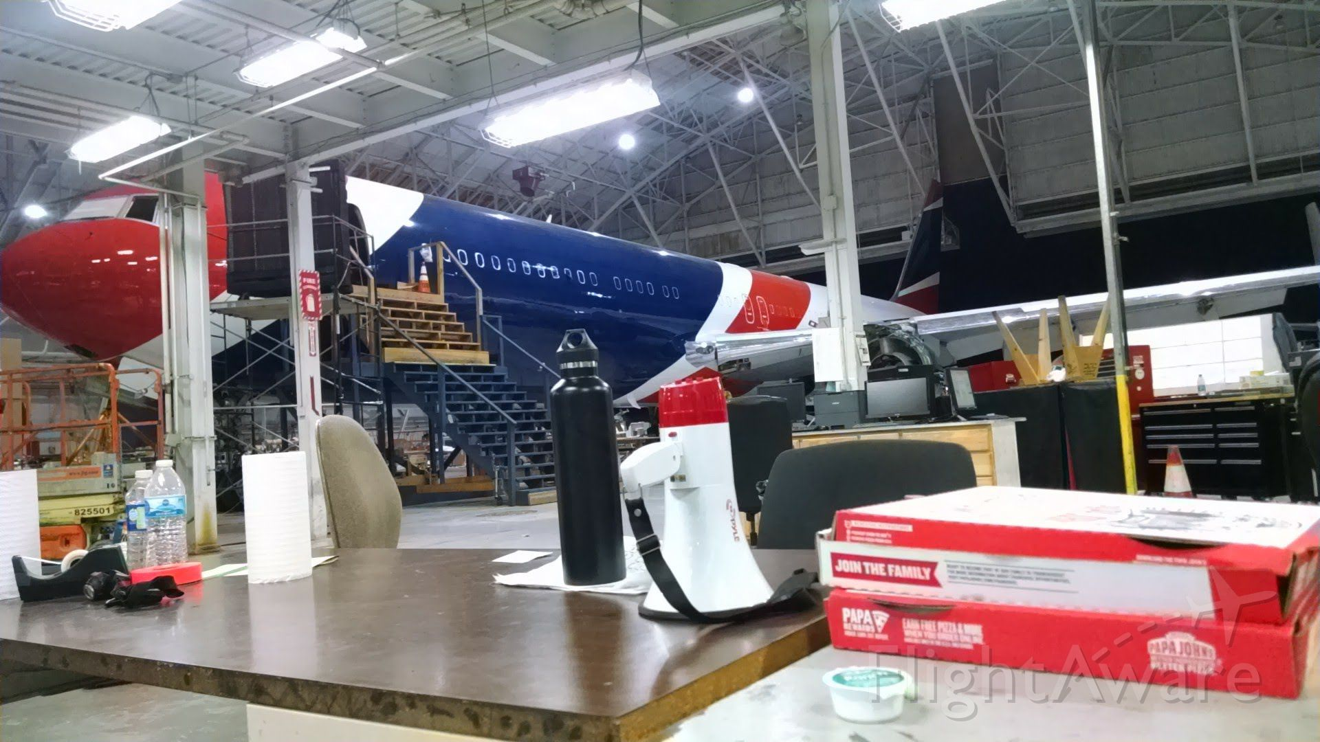 BOEING 767-200 — - Patriots 767 in the shop, heavy check and interior reconfiguration.