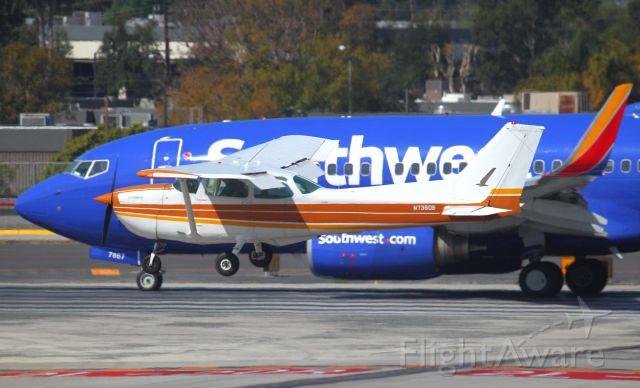 Cessna Skyhawk (N738QB) - SPOTTED AT KSNA ON 3-6-2020