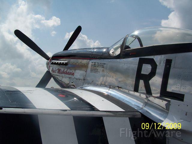 North American P-51 Mustang (N51KB) - Scott County, Oneida Tn. airshow, Sept. 2009.