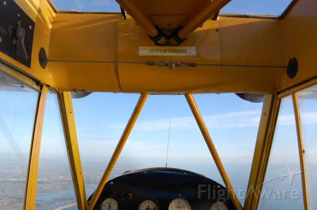 Piper NE Cub (N38834) - View from the cockpit. SMO to SNA at 1700 feet.
