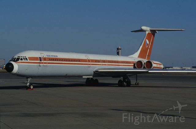 Ilyushin Il-62 (OK-BYV) - Parked at Tokyo-Haneda Intl Airport on 1995/12/12