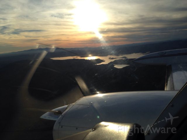 — — - Over lake pleasant Arizona