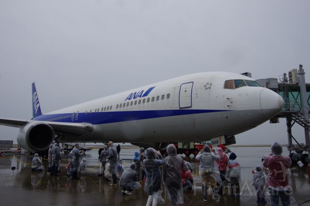 JA8568 — - Yamaguchi Ube Airport nigiwai Festival 2014 <br />Tour of the aircraft in the rain