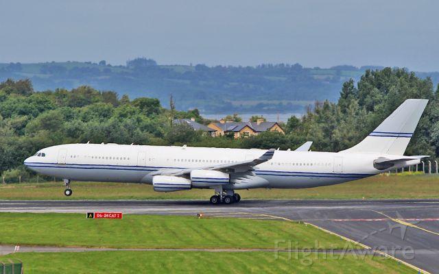 "Airbus A340-200 (SHU124) - ""sva003"" saudi royal flight a340-213 hz-124 dep shannon for los angeles 2/7/17."