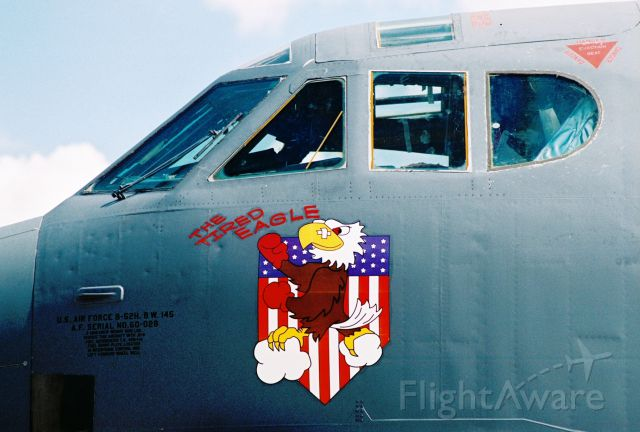 """Boeing B-52 Stratofortress (60-0028) - B-52H """"The Tired Eagle"""", 60-0028, at Barksdale AFB Airshow in 2005."""