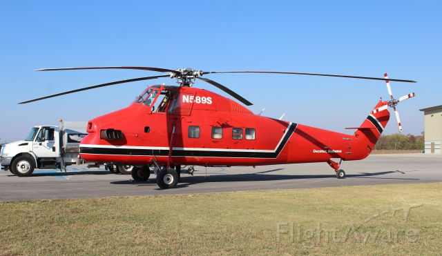 N589S — - A Sikorsky S-58T of Solley Equipment and Rigging of Decatur, AL on the ramp at Pryor Field Regional Airport in Decatur, AL - October 28, 2016.